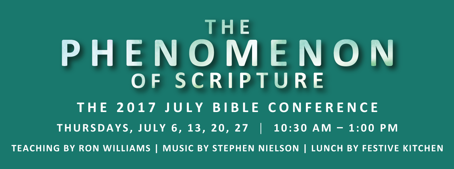 The Phenomenon of Scripture