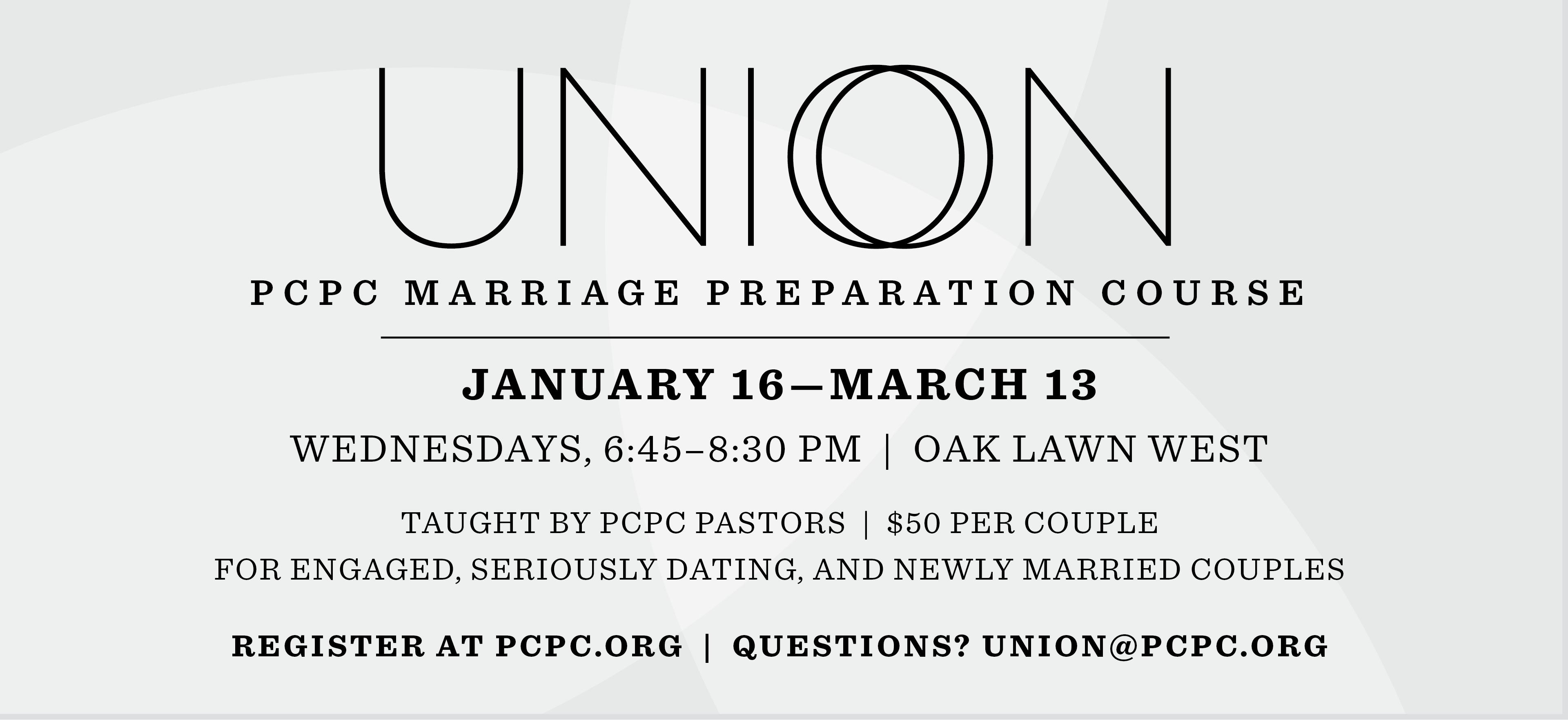 Union: Marriage Preparation Class